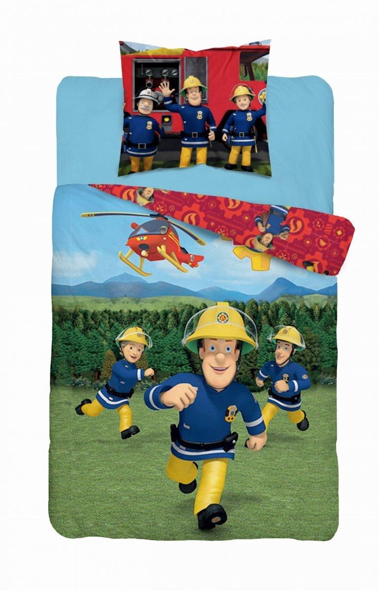 Pościel licencyjna Strażak Sam 100% bawełna 160x200 lub 140x200 - wz. Fireman Sam 014