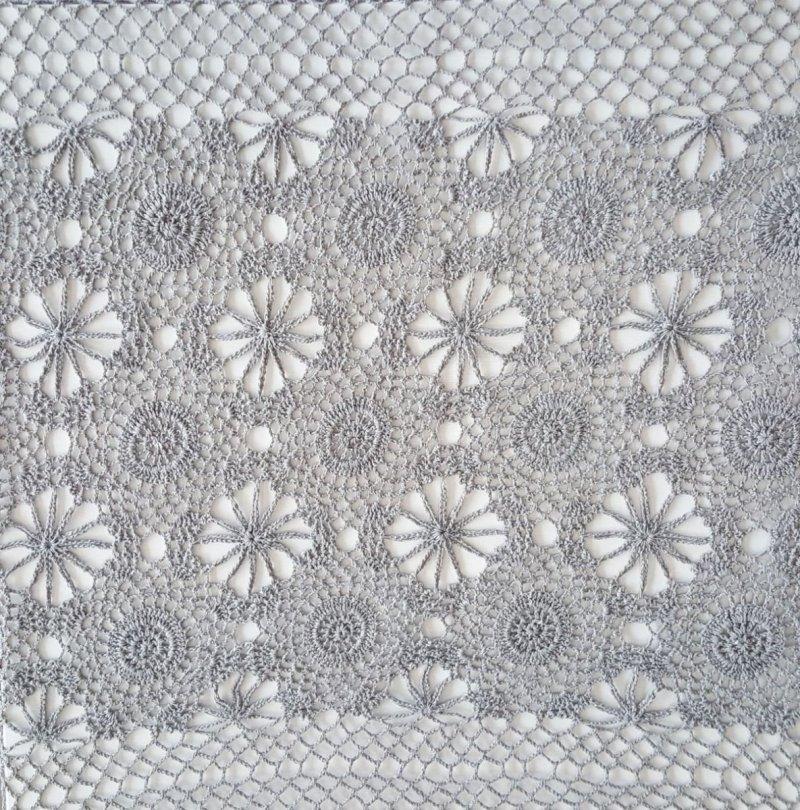 Obrus szydełkowy, serweta,bieżnik rozmiar 60x120 kolor grafit (254)