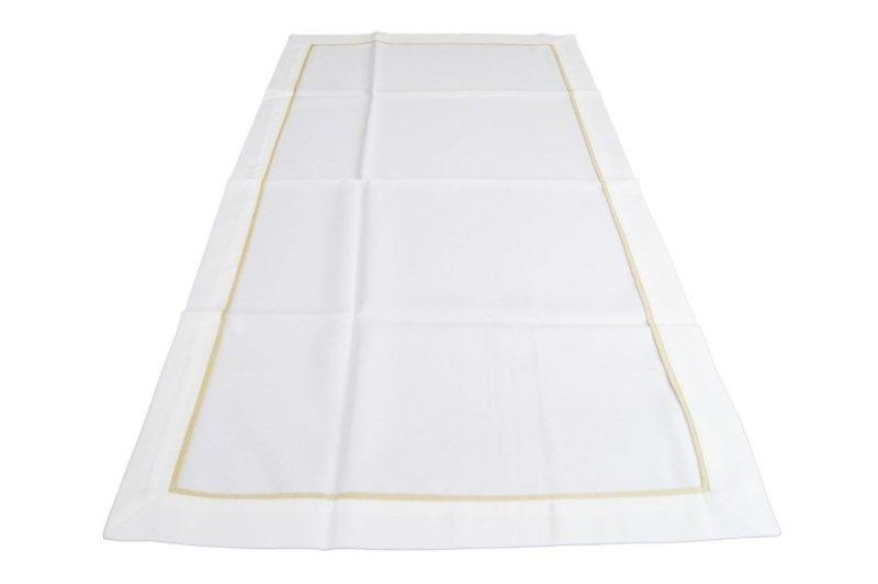 Obrus z mereżką rozmiar 60x120 wzór biały (210)