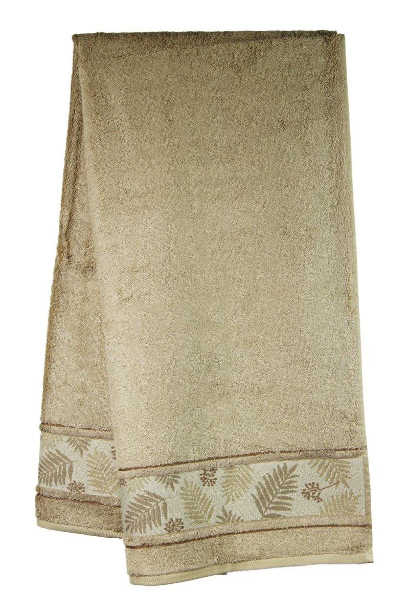 Ręcznik Bambusowy -  50x90  Tropical  BEŻ