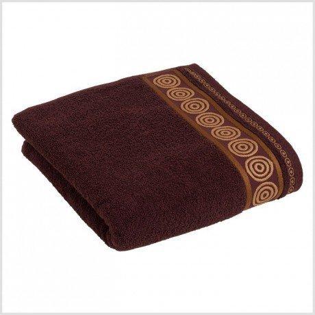Ręcznik frotte Rondo 70x140 kolor brąz k5