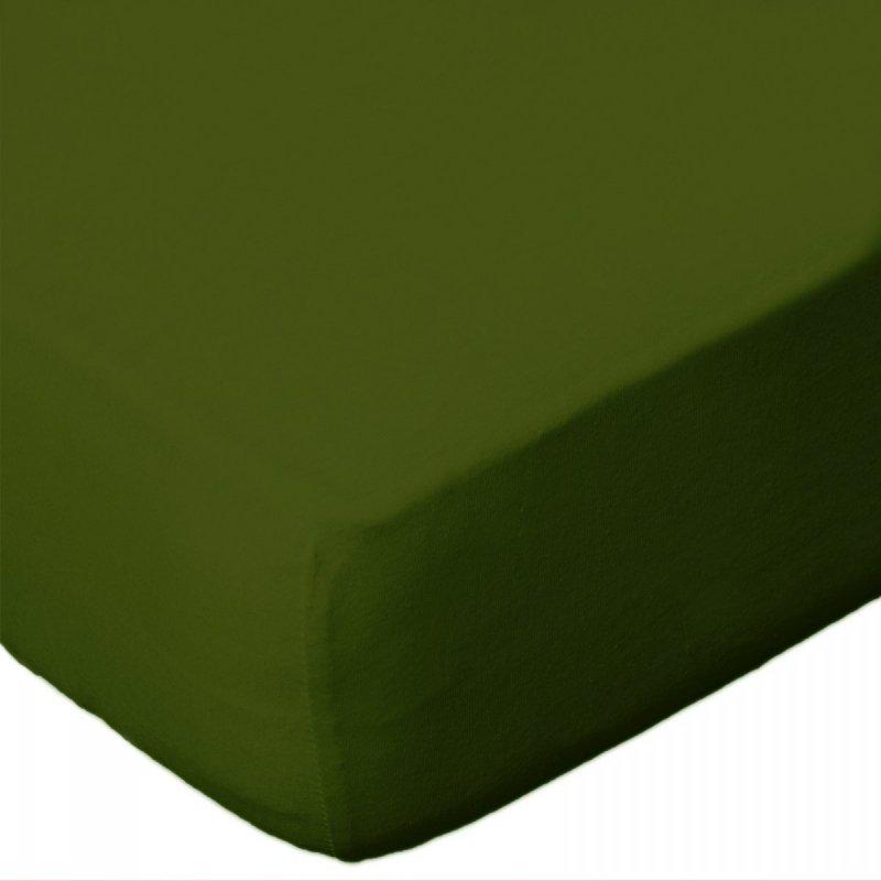 Prześcieradło jersey 180x200 z gumką wz. D033 (kaktusowy 2)
