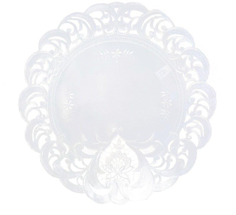 Obrus haftowany rozmiar 40cm koło wzór 7889