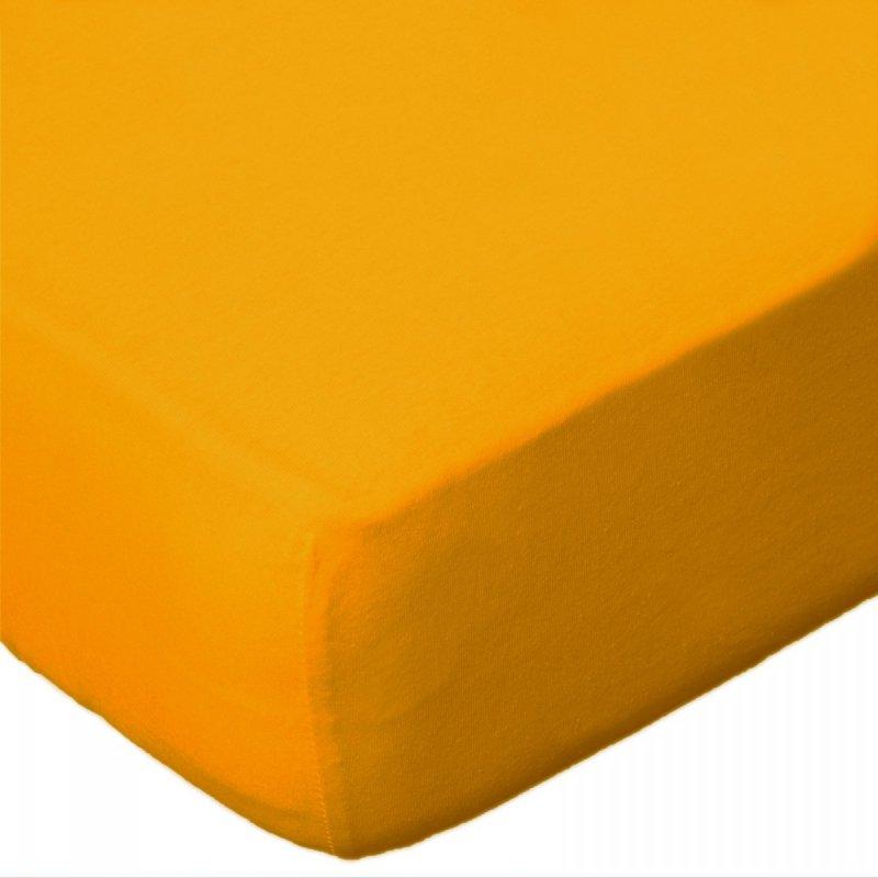 Prześcieradło jersey 220x200 z gumką wz. D004 (żółty)