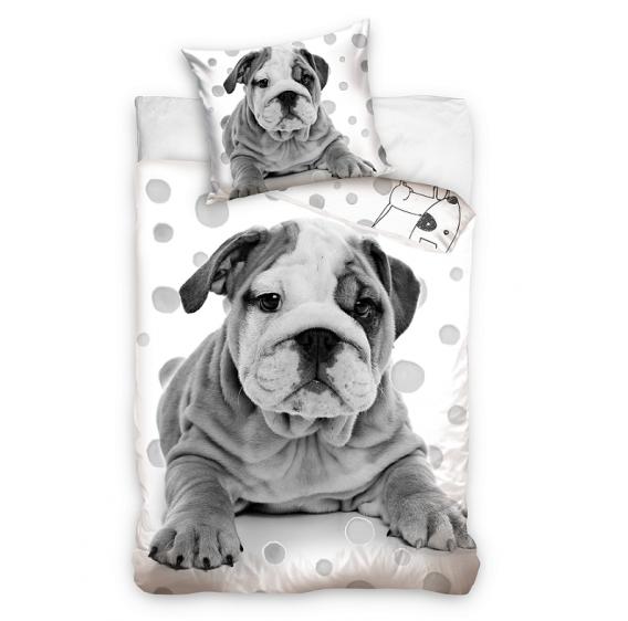 Pościel młodzieżowa 100% bawełna 160x200 lub 140x200 - szary pies