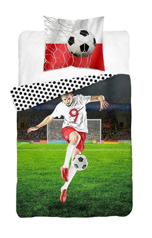 Pościel młodzieżowa 100% bawełna 160x200 lub 140x200 - Piłkarz - wz. 3446 A