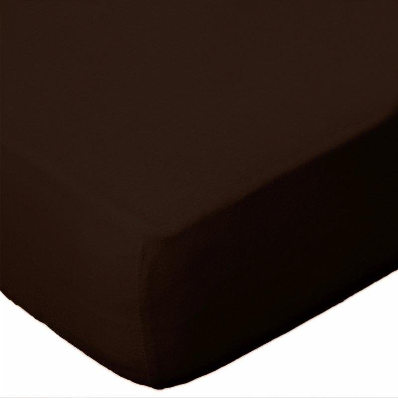 Prześcieradło jersey 180x200 z gumką wz. D030 (czekoladowy 2)