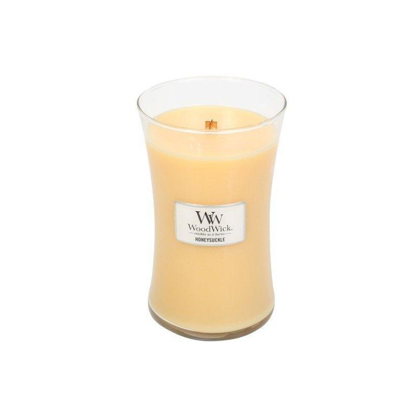 Świeca zapachowa WoodWick - Honeysuckle - Duża świeca