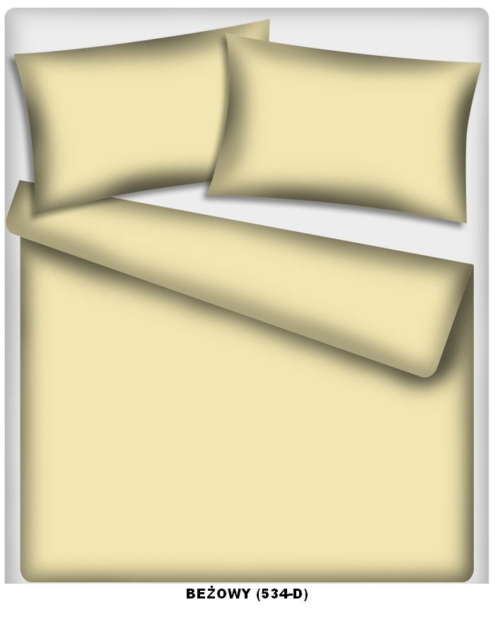 Poszewka kolorowa jednolita , poszwa 50x60, 100% bawełna ITAKA zapięcie na zamek wz. beżowy