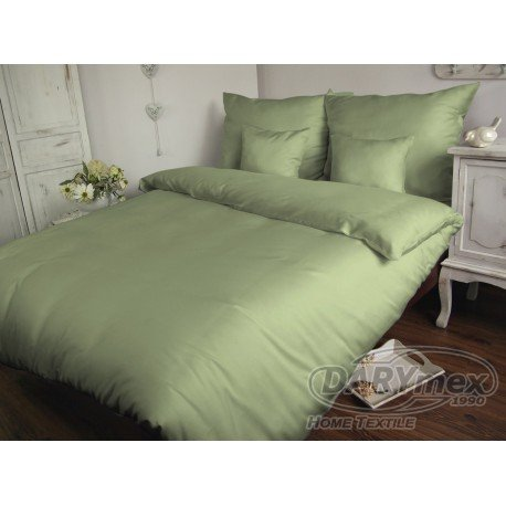 Poszewka na poduszkę 70x80 - 100% bawełna satynowa DARYMEX, zapięcie na zamek wz. oliwka 70006