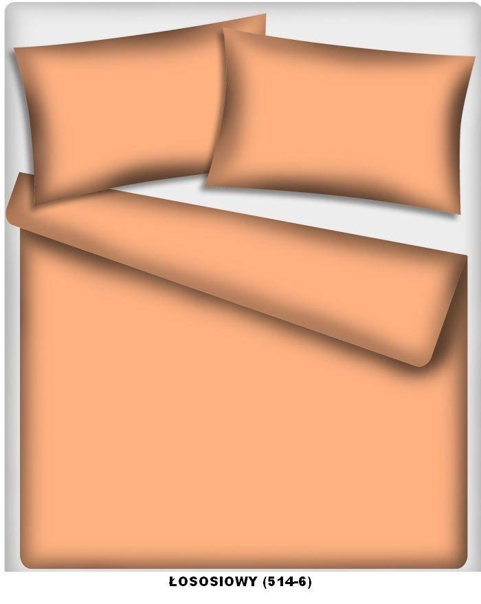 Poszewka kolorowa jednolita , poszwa 50x60, 100% bawełna ITAKA zapięcie na zamek wz. łososiowy