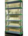 Plastikregal Kunststoffregal Steckregal  Jupiter-6-80 (222x80x46), 6 Böden, 3 Farben