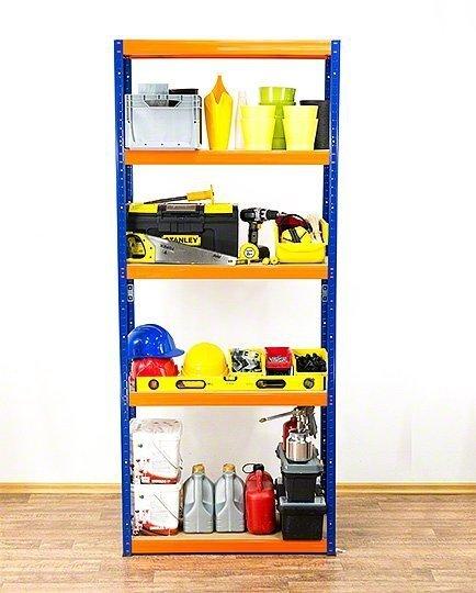 Metallregal Werkstatt Schwerlastregal Helios 213x075x30_5 Böden, Tragkraft bis 400 Kg pro Boden,  Viele Farben zur Auswahl