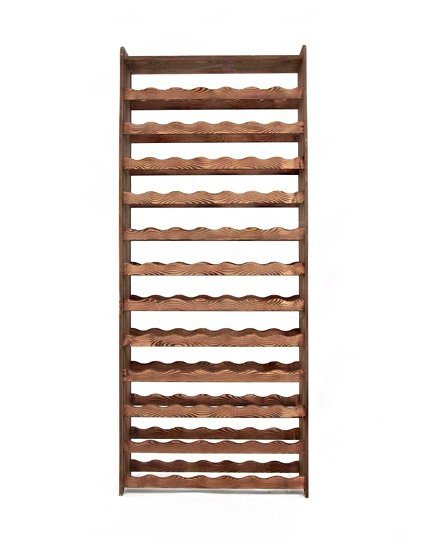Weinregal Holz 84 Flaschen, RW-16-84P (72,2x26,5x172,4), Dunkelgrau, Ecru, Dunkelgrau Decor, Dunkelbraun Decor