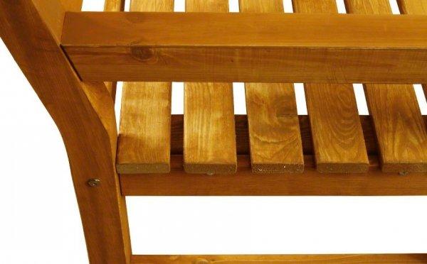 Holzbank aus Holz, Margo-3, 91x125x53,5