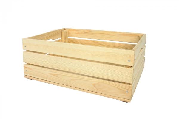 Holzkiste SD-3-60x40 unbehandelt oder geölt