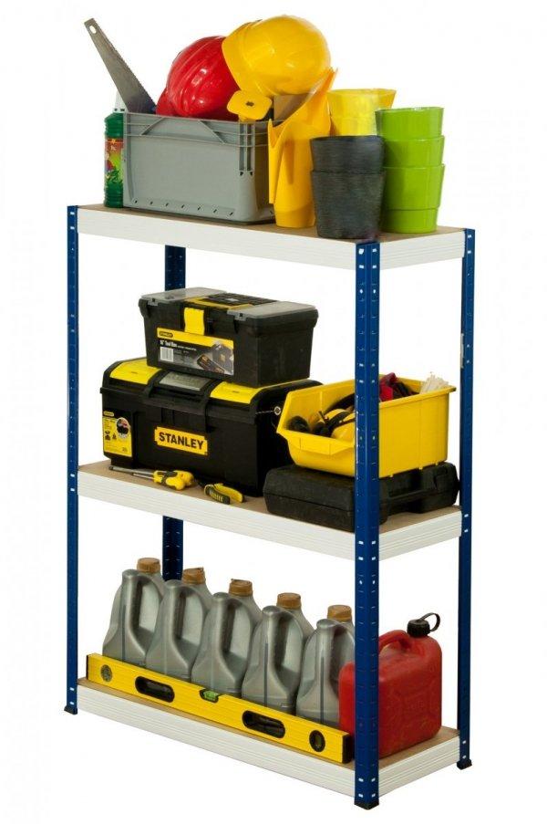 Metallregal Werkstatt Schwerlastregal Helios 090x075x35_3 Böden, Tragkraft bis 400 Kg pro Boden,  Viele Farben zur Auswahl