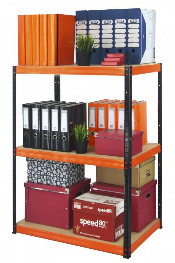 Metallregal Werkstatt Schwerlastregal Helios 106x040x40_3 Böden, Tragkraft bis 175 Kg pro Boden,  Viele Farben zur Auswahl, Quadratisch
