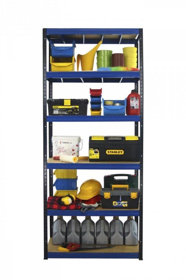 Metallregal Werkstatt Schwerlastregal Helios 196x075x50_6 Böden, Tragkraft bis 400 Kg pro Boden,  Viele Farben zur Auswahl