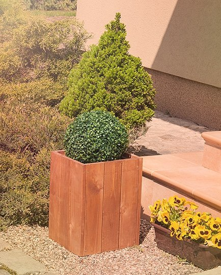 Blumenkübel aus Holz Serie RD-1-40,40x27x31 cm