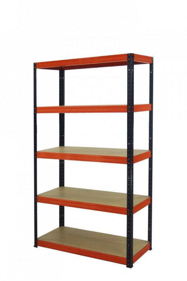 Metallregal Werkstatt Schwerlastregal Helios 180x090x30_5 Böden, Tragkraft bis 400 Kg pro Boden,  Viele Farben zur Auswahl