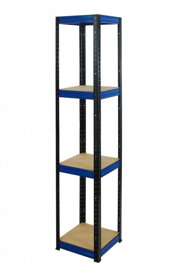 Metallregal Werkstatt Schwerlastregal Helios 180x060x60, 4 Böden, Tragkraft bis 175 Kg pro Boden,  Viele Farben zur Auswahl, Quadratisch