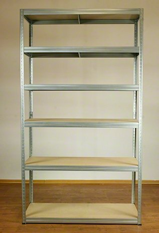 Metallregal Steck-Lager- Schwerlastregal bis 400 kg pro Boden , verzinkt , HZ_196x120x60, 6 Böden
