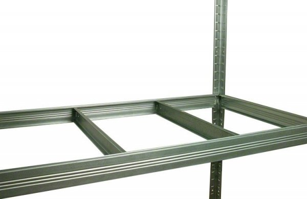 Metallregal Steck-Lager- Schwerlastregal bis 400 kg pro Boden , verzinkt , HZ_180x110x60, 4 Böden