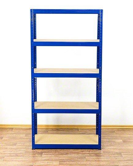 Metallregal Werkstatt Schwerlastregal Helios 180x075x60_5 Böden, Tragkraft bis 400 Kg pro Boden,  Viele Farben zur Auswahl