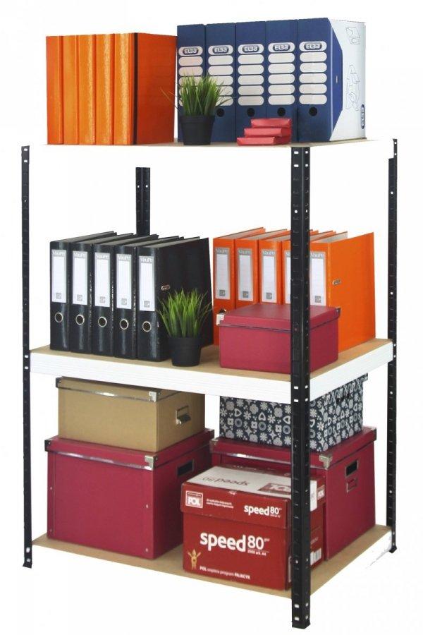Metallregal Werkstatt Schwerlastregal Helios 090x075x30_3 Böden, Tragkraft bis 400 Kg pro Boden,  Viele Farben zur Auswahl