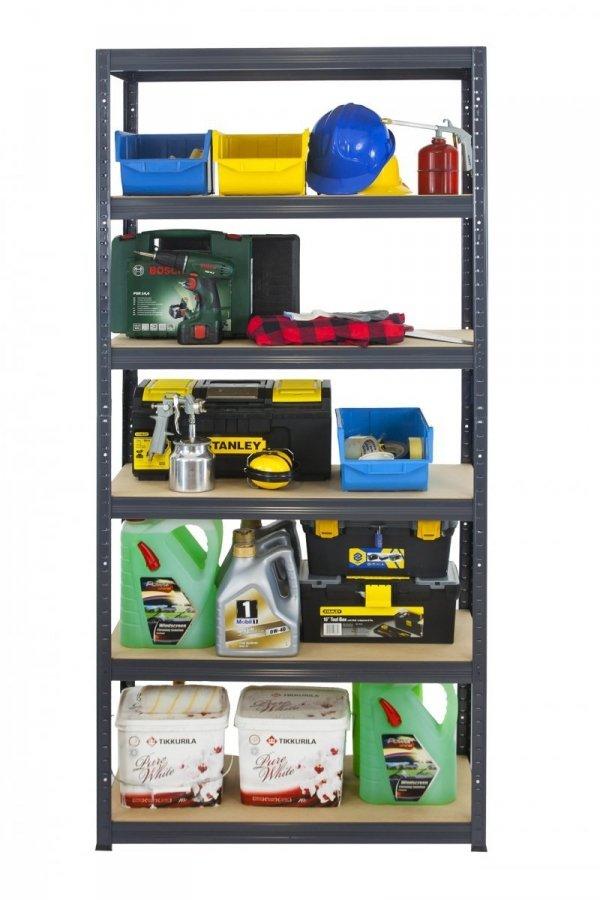 Metallregal Werkstatt Schwerlastregal Helios 213x075x40_6 Böden, Tragkraft bis 400 Kg pro Boden,  Viele Farben zur Auswahl