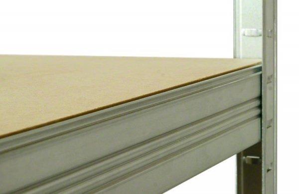 Metallregal Steck-Lager- Schwerlastregal bis 400 kg pro Boden , verzinkt , HZ_213x090x40, 5 Böden