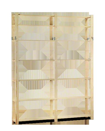 Holzregal 7 Böden 220x170x28 cm, B-31, Unbehandelt