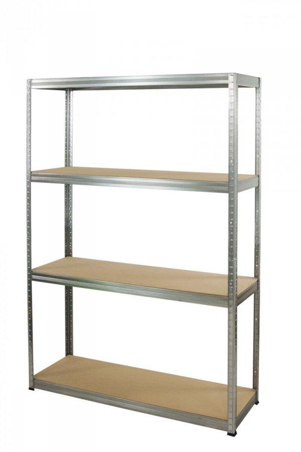 Metallregal Steck-Lager- Schwerlastregal bis 400kg pro Boden , verzinkt , HZ_180x075x30, 4 Böden