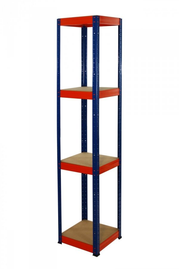 Metallregal Werkstatt Schwerlastregal Helios 180x030x30, 4 Böden, Tragkraft bis 175 Kg pro Boden,  Viele Farben zur Auswahl, Quadratisch
