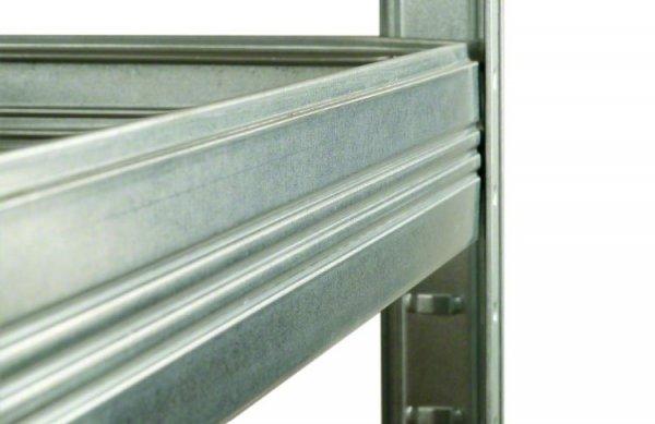 Metallregal Steck-Lager- Schwerlastregal bis 400 kg pro Boden , verzinkt , HZ_180x075x50, 5 Böden