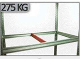 Metallregal Steck-Lager- Schwerlastregal bis 400kg pro Boden , verzinkt , HZ_196x075x30, 5 Böden