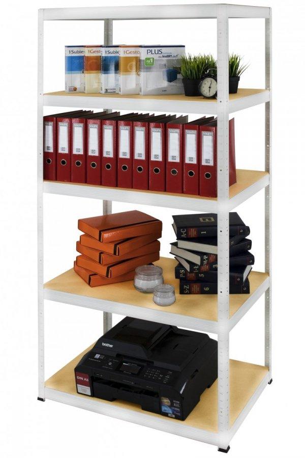 Metallregal Werkstatt Schwerlastregal Helios 180x050x50_5 Böden, Tragkraft bis 175 Kg pro Boden,  Viele Farben zur Auswahl, Quadratisch