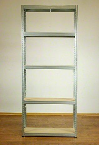 Metallregal Steck-Lager- Schwerlastregal bis 400 kg pro Boden , verzinkt , HZ_196x110x40, 5 Böden