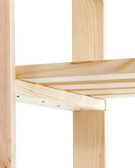 Holzregal, RA-4-65 (170x65x28),  4 Böden, Unbehandelt