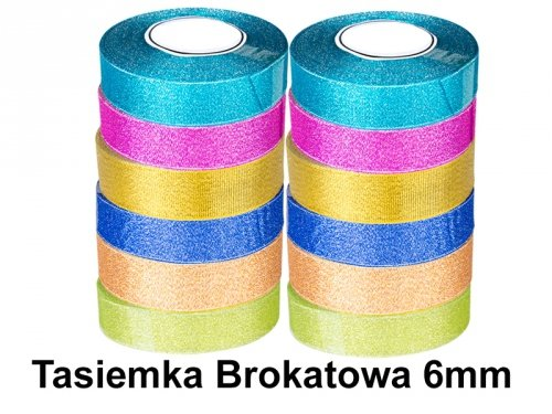 Tasiemka Brokatowa 6mm