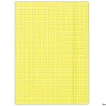 Teczka z gumk.FEP DONAU żółta FEP11 kratka