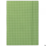 Teczka z gumką w kratę zielona FEP06