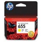 Tusz HP 655 do Deskjet 3525/4615/4625/5525/6525   600 str.   yellow