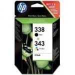 Zestaw dwóch tuszy HP 338 i 343 do Deskjet 460/6540/6620, PSC 1610/2210 | CMY/K