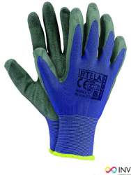 Rękawice powlekane niebiesko-szary rozmiar 9 RTELA