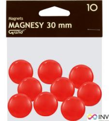 Magnesy 30mm GRAND czerwone  (10)^ 130-1695