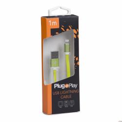 Kabel LIGHTNING USB zielony Plug&Play PP-LIGHTING-G
