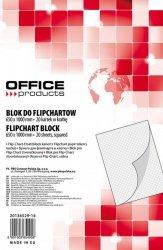 Blok do flipchartów OFFICE PRODUCTS, kratka, 65x100cm, 20 kart., biały