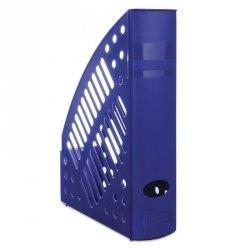 Pojemnik na dokumenty ażurowy DONAU, polistyren, A4, niebieski